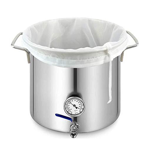 grefen Bolsa de filtro reutilizable de nailon colador de comida de malla fina colador de té, infusor desechable vacío con cordón para leche de nueces, jugo verde, cerveza fría, preparación casera