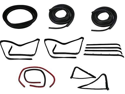 Vehicle Weatherstrip Kit - Compatible with 1980-1986 Ford F-150 with Black Rear Window Seal
