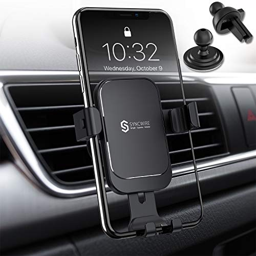 Syncwire Upgraded Phone Holder for Car - Gravity Car Phone Holder, Auto Lock 360° Rotation Air Vent...