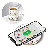 MSAFF 2 in 1 Coffee Mug Warmer with Wireless Charger for Desk, Beverage Cup Heater Set Intelligent Temperature Control 131°F/55°C, 10W Wireless Charging for Phones(Power Adapter & Mug Included)