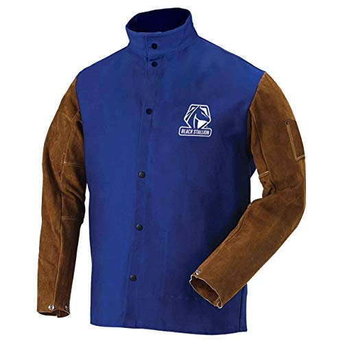 Revco FRB9-30C/BS-XL 9oz FR Cotton & Cowhide Hybrid Welding Jacket, XL