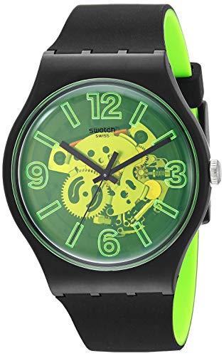 Swatch Herenhorloge analoog kwarts horloge met siliconen armband SUOB166