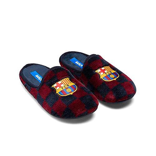 Zapatillas Oficiales FC Barcelona 1a Equipación Zapatillas de Estar por casa Hombre Invierno Otoño - 34.5 EU