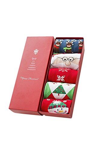 5 Pares De Calcetines Unisex para Navidad