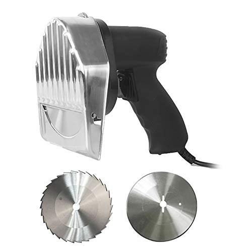 LMEIL Elektrisches Dönermesser Tragbares Gyro-Messer Messer Hand-Fleischrasierer Professional Kann Die Dicke Der Fleischschneidemaschine Für Shawarma Einstellen
