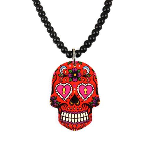 Colgante Flor Esqueleto Cráneo Totem Hip Hop Caja B Coche Retrovisor Amuletos Colgante Adornos para el hogar Decoración, D