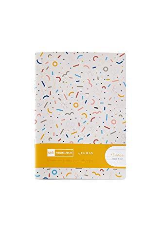 Miquelrius - Cuaderno con Grapa By Rubio Formato 4, Pauta Montesori 6 mm