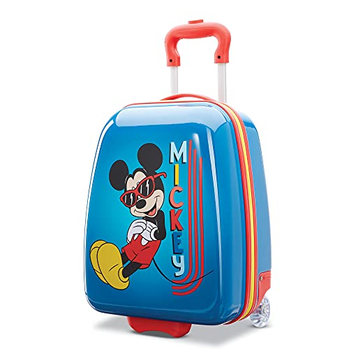 American tourister kids' disney hardside upright luggage, mickey, carry-on 18-inch