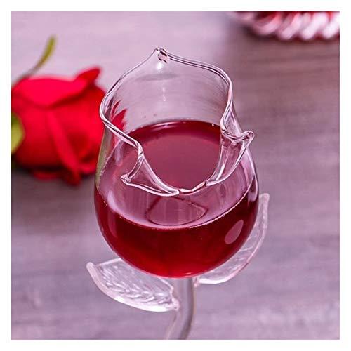 LIZCX YAOQIHAI 2 unids/Vino de Vino Creativo Rosa Vino Vino Rosa Vino Vino Fabricante Suministro al por Mayor Personalizado Copa (Capacity : A, Color : B)