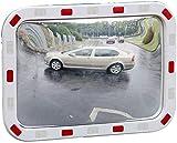 MIRROR Lente gran angular de tráfico exterior, espejo de tráfico Lente gran angular de carretera Espejo de película cuadrada Espejo antirrobo para interiores y exteriores Esquina de intersección Espe