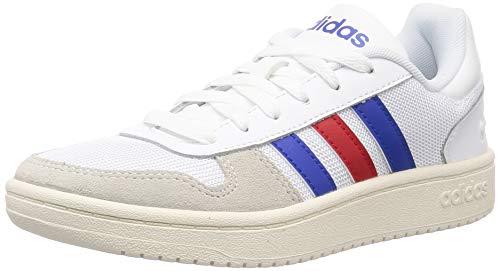 adidas Hoops 2.0, Zapatillas Hombre, FTWBLA/Reauni/Escarl, 41 1/3 EU