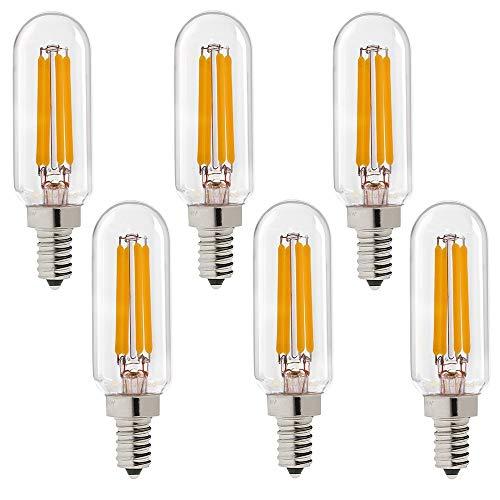 HHF LED Bulbs Lamps, 6pcs LED lámpara T25 4 Chips Tubular LED Filamento Bulbos 4W lámpara Colgante lámpara E12 110V E14 220V White White 2700K (Wattage : 4W E12 110V 130V)