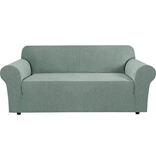 Fundas elásticas para sofá de 2 plazas Fundas para Asientos de Amor para Sala de Estar Fundas para sofá Fundas para Muebles con Fondo elástico, Tela Jacquard su