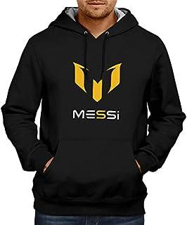 CupidStore Football Sweatshirt FCB Lionel Messi Logo Blue Red Black Hoodie Hoodies for Mens