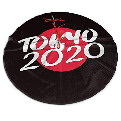 Tokyo 2020 Summer Games Holiday Party Decoration Xmas Tree Mat Christmas Tree Skirt 36 Inch