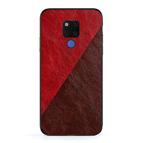 SHUNDA Capa para Huawei Mate 20 X, capa traseira combinando com capa fina de TPU resistente a arranhões para Huawei Mate 20 X - marrom vermelho