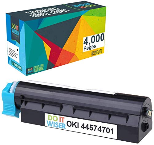 Do it Wiser Compatible Toner Cartridge Replacement for Oki B411d B411dn B431d B431dn MB461 MB471 MF491- Okidata 44574701 (4,000 Pages, Black)