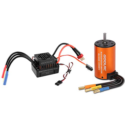 GoolRC Upgrade Waterproof 3660 3300KV Brushless Motor with 60A ESC Combo Set for 1/10 RC Car...