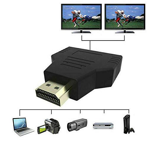 Mochalight HDMI Male to Dual HDMI Female Converter,1080P HDMI Splitter Adapter for HDTV Projector