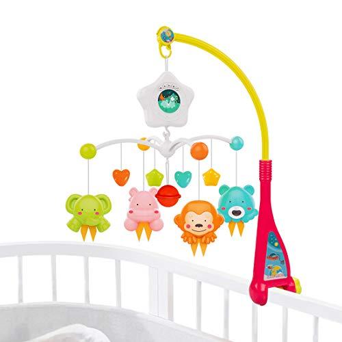 Juguetes móviles para cuna de bebé UNIH con música y luces, móviles para cuna de guardería, decoración de cama para recién nacidos de 0 a 24 meses