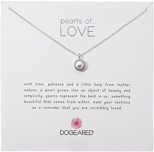 Dogeared Sterling Silver Bezel Pearls of Love Chain Necklace