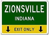 個人的な駐車場サインジニスビル、インディアナこの出口のみ-ヘビーデューティ警告錫金属通りの看板装飾