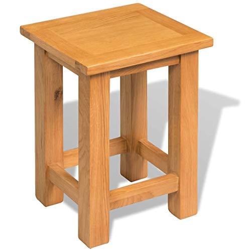 vidaXL Solid Oak Wood End Table Home Side Tea Telephone Stand Display Table
