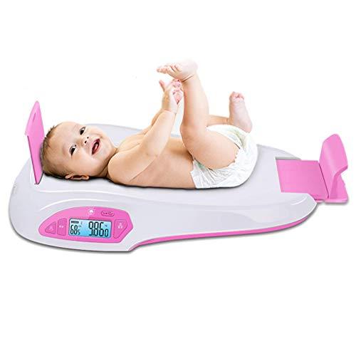 GWW Báscula Digital Báscula electrónica electrónica para bebés, báscula de Altura de Peso precisa, báscula Infantil con función de retención, Carga USB, 0.2 lb-55 LB (100 g-25 kg)