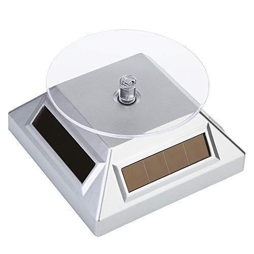 Présentoir à bijoux solaire rotatif à 360 degrés pour bijoux, téléphones portables, lunettes, blanc
