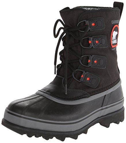 Sorel Men's Caribou Extreme Snow Boot,Black/Shale,9 M US