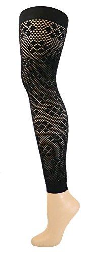 Fibrotex Damen Netzlegging 30 DEN, Farben alle:16 schwarz, Größe:XL(48/50)
