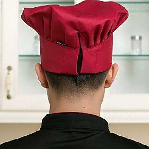 23 Kentop Gorro de Cocinero Sombrero de Cocinero de Camarero de Hotel Restaurante,30 27CM