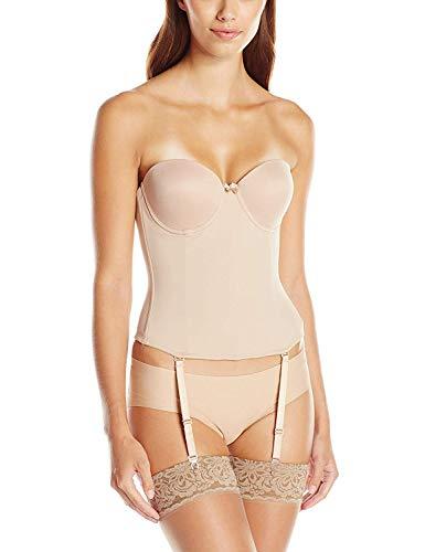 Va Bien Women's Ultra-Lift Low Back Bustier, Nude, 34E