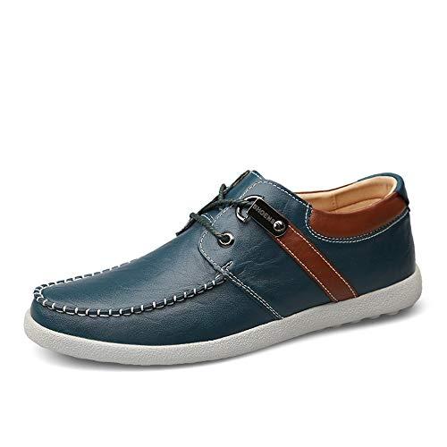 Nstqlzh Casual Oxford for Männer Fahren Schuhe schnüren Sich Oben auf Kunstleder Leichte Formal Gehen Anti Slip Runde Toe` (Color : Black, Size : 44 EU) thumbnail