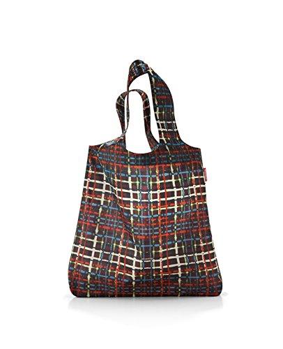 Reisenthel Einkaufsbeutel Mini Maxi Shopper Wool Faltbeutel Polyester-15 Liter, Polyester, Mehrfarbig, 43.5 x 43.5 cm