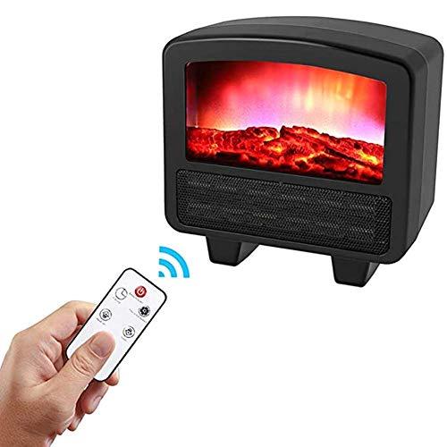 WANGCY Cheminée électrique à Flamme 3D Petite cheminée...