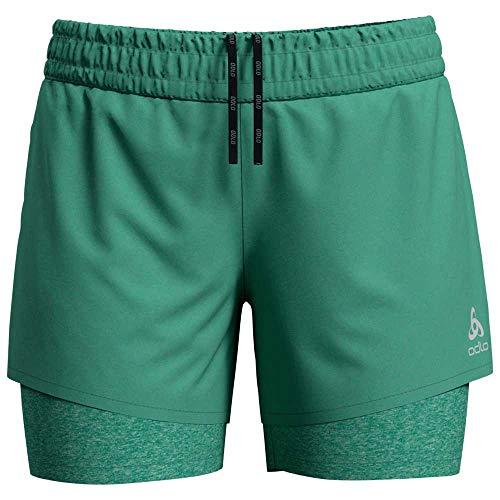 Odlo Damen 2-in-1-Shorts Millennium Pro Shorts, Schwarz, XS