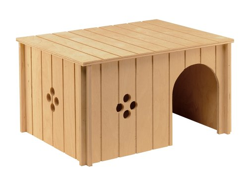 Ferplast 84647099 Kaninchenhaus SIN 4647, aus Holz, Maße: 37 x 27,7 x h 20 cm