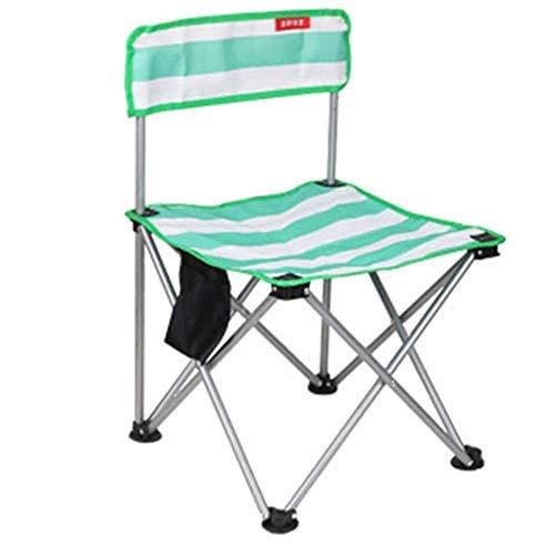 QTQZDD outdoor klapstoel trein zitloos vissen kruk student schetsstoel kunst draagbare speciale rugleuning kleine stoel (kleur: groen) 2 2