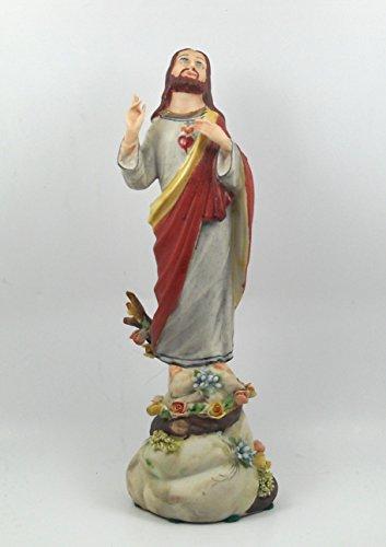 Capodimonte Figur Porzellan Figur Heiliges Herz cm 21.5x 8