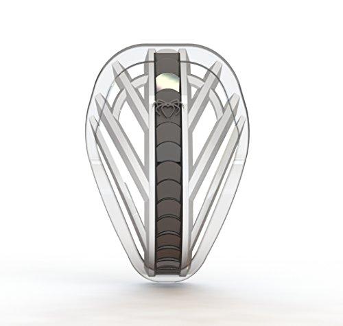 Spider Guard Web-Flex Athletic Cup, Erwachsene Teen & Youth, durchsichtig/schwarz, Jugend
