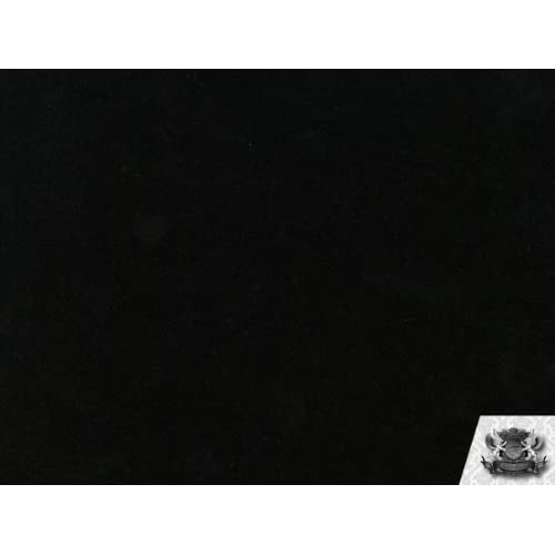 Amazon Com 1 X Velvet Solid Black Upholstery Fabric By The Yard