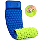 Camping Sleeping Pad with Pillow Air Sleeping Mat Portable Comfortable Inflatable Outdoor Foldable
