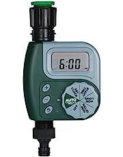 Automatic Water Timer, KKmoon Outdoor Garden Irrigation Controller 1-Outlet Programmable Hose Faucet Timer Garden Automatic Watering Device without Battery Green