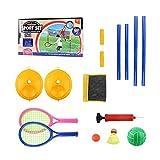 Edcqaz Kid Tennis Raqueta Plástico 3 En 1 Raqueta De Tenis