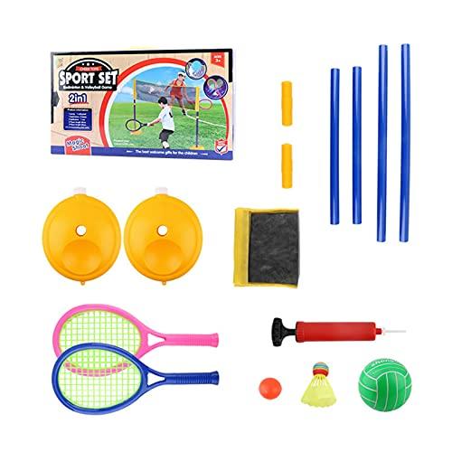 Edcqaz Kid Tennis Raqueta Plástico 3 En 1 Raqueta De Tenis Al Aire Libre Set Para Niños Pequeños Juego De Raquetas Tenis