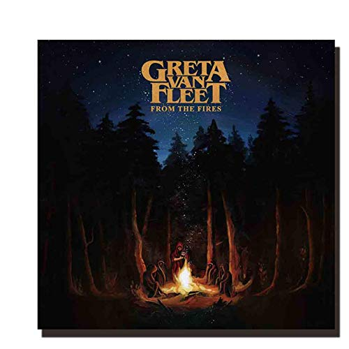 LYWUSUZE Art Greta Van Fleet from The Fires Music Album Poster Canvas Painting Print Wall Decoration-50x70cm No Frame
