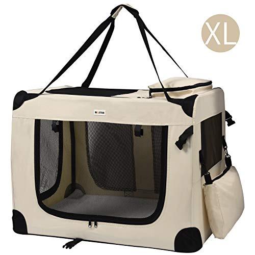 MC Star Trasportino Cane Borsa per Cane Taglia Media Portatile Pieghevole Trasportino Viaggio per Cani Animale Domestico Beige XL