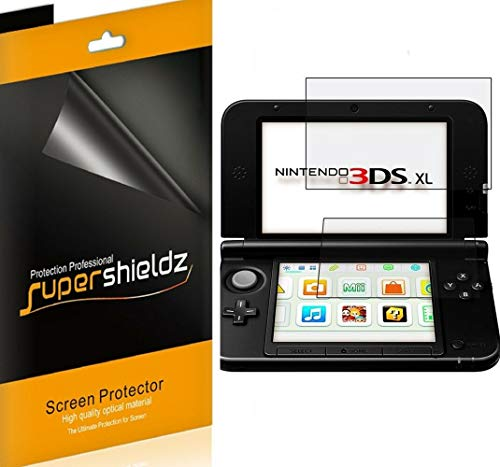 (3 Pack) Supershieldz for Nintendo 3DS XL Screen Protector, 0.23mm High Definition Clear Shield (PET)