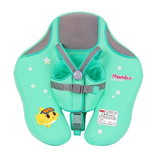 Doolland Upgrade Baby Infant Soft Solid Nicht Aufblasbar Float Liegen Schwimmen Kinder Taille Pool FloatsToys Swim Trainer Classic Trainingshilfe (Grün)